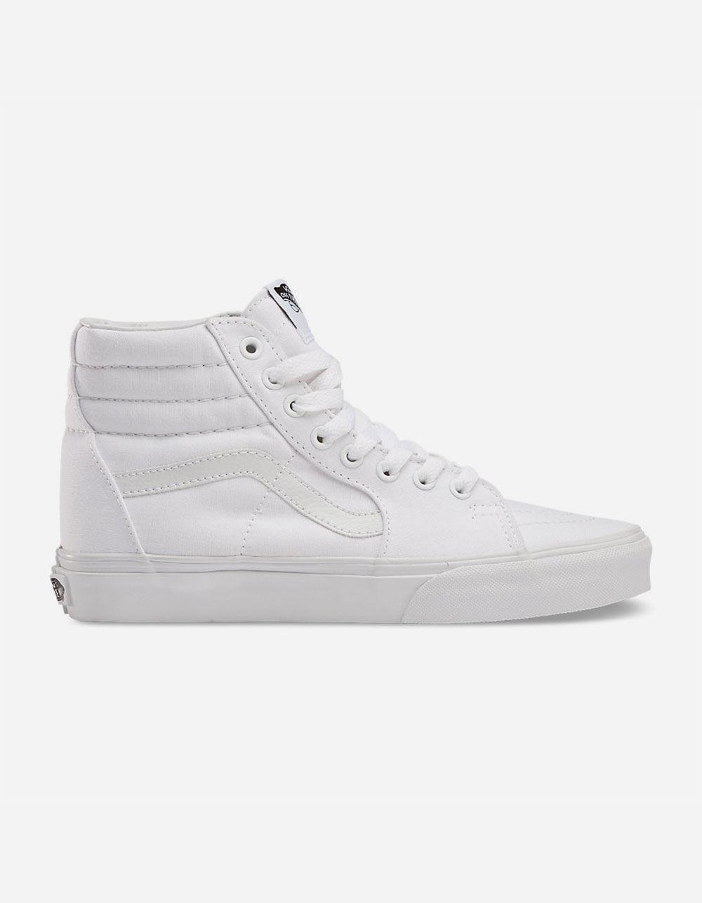 VANS CANVAS SK8-HI TRUE WHITE SHOES