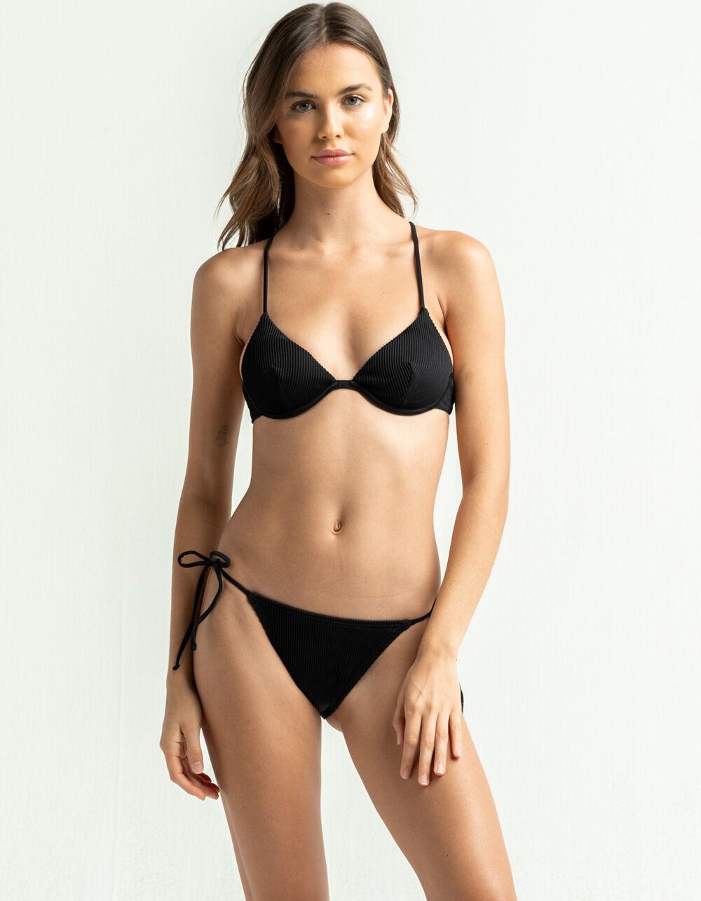 DAMSEL Side Tie High Leg Bikini Bottom