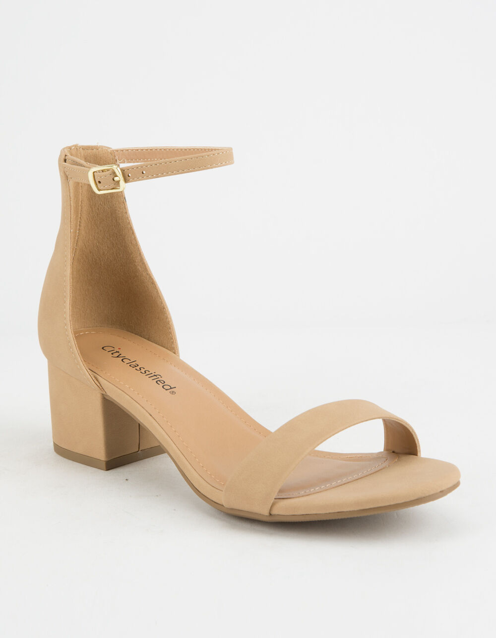 CITY CLASSIFIED Weekend Natural Heeled Sandals