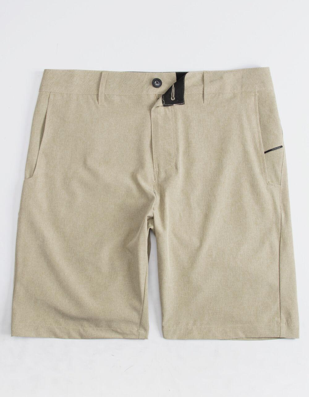 NITROUS BLACK Format Light Tan Hybrid Shorts