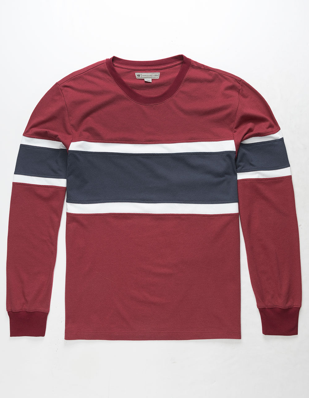 Image of CHARLES AND A HALF COLOR BLOCK T-SHIRT