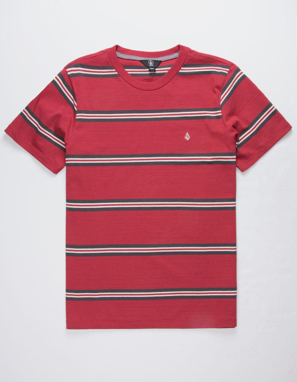 VOLCOM Beauville Burgundy T-Shirt