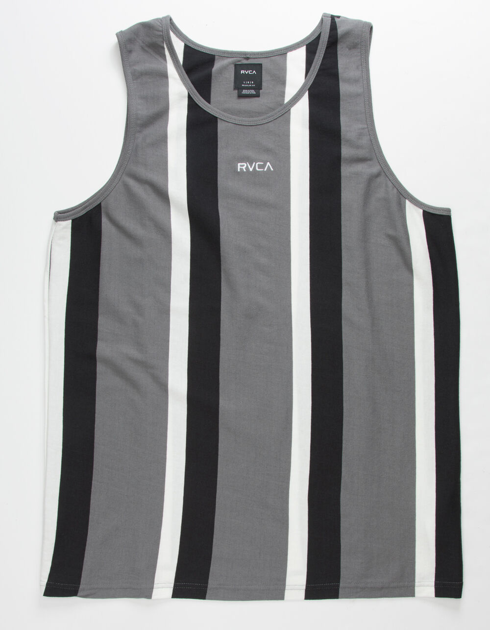 RVCA Surrender Stripe Gray & Black Tank Top