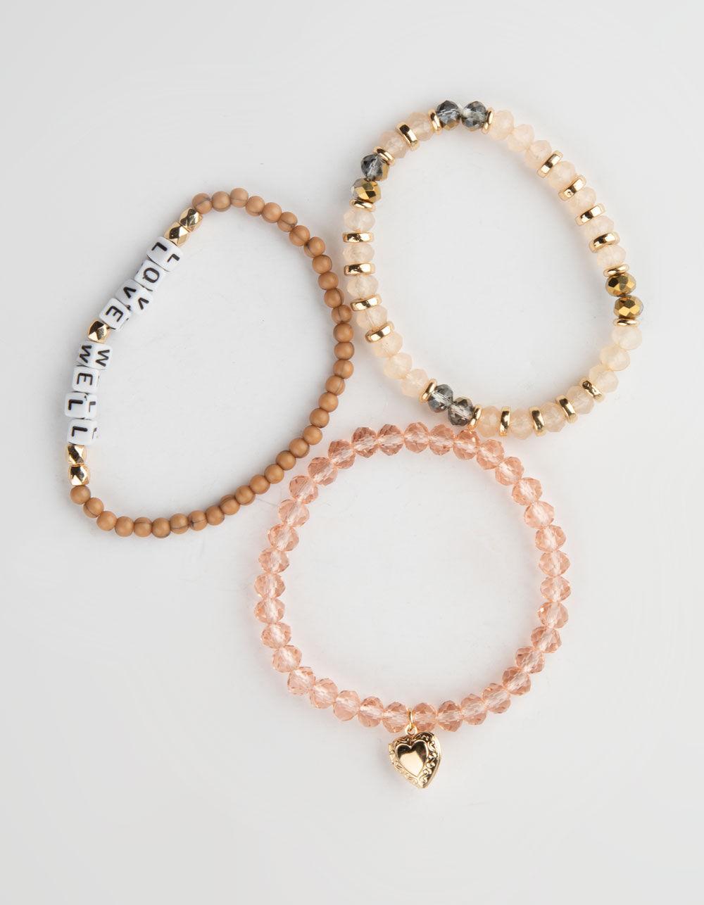 FULL TILT 3 Pack Love Block Bracelets