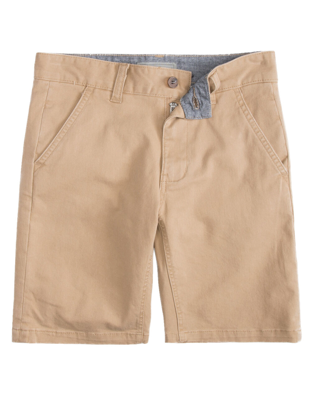 Image of CHARLES AND A HALF LINCOLN STRETCH DARK KHAKI BOYS SHORTS