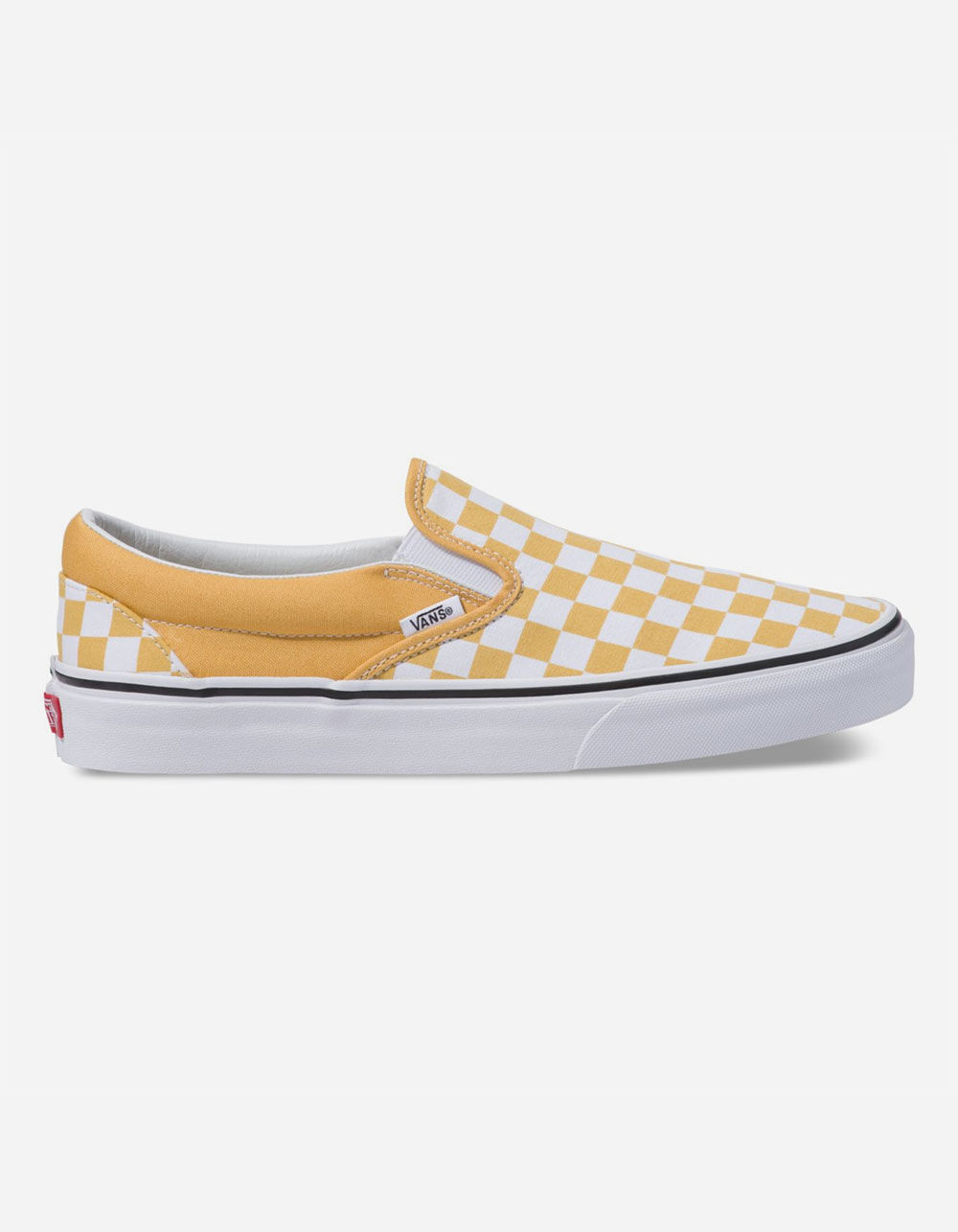 VANS Checkerboard Classic Slip-On Ochre & True White Shoes