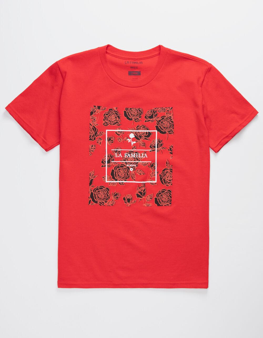 LA FAMILIA Core Rose Red Boys T-Shirt