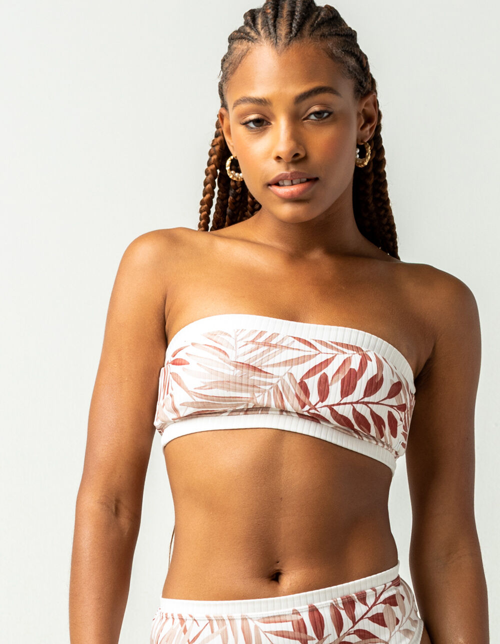 HURLEY Block Party Bandeau Bikini Top