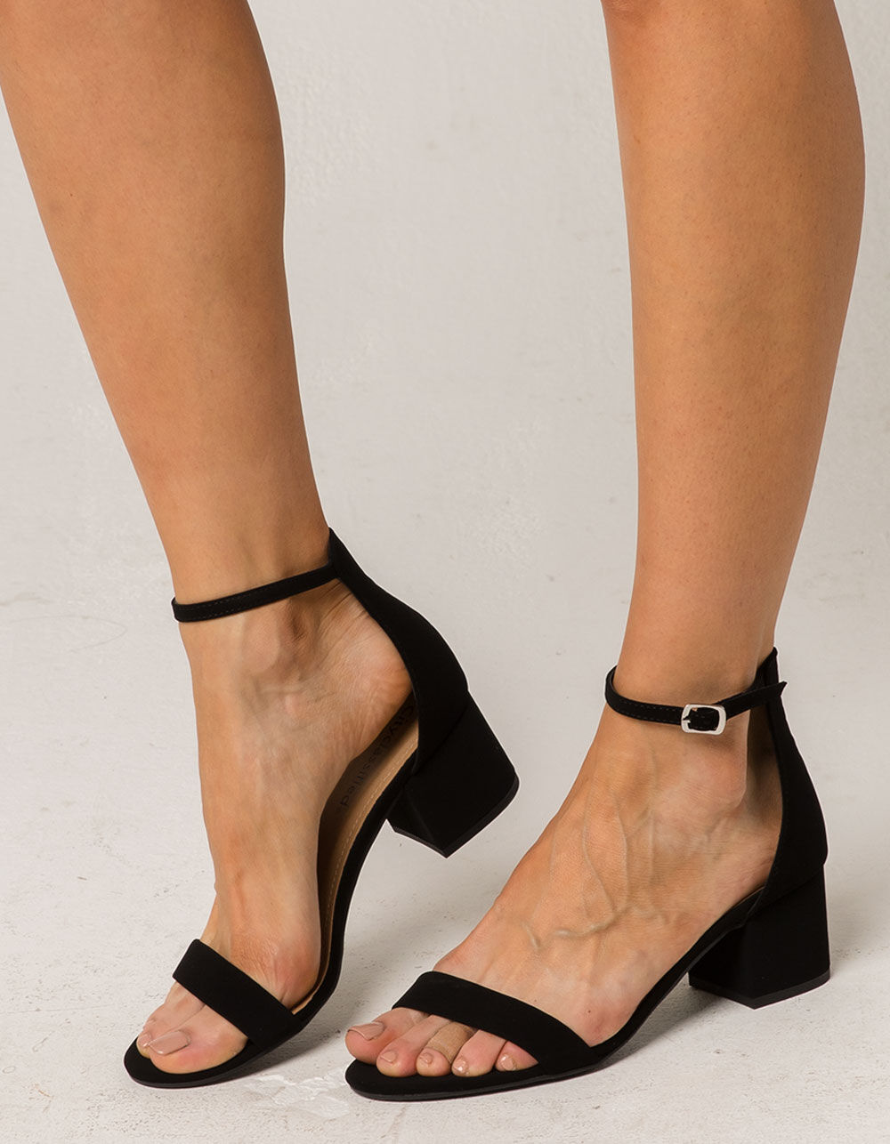 CITY CLASSIFIED Weekend Black Heeled Sandals