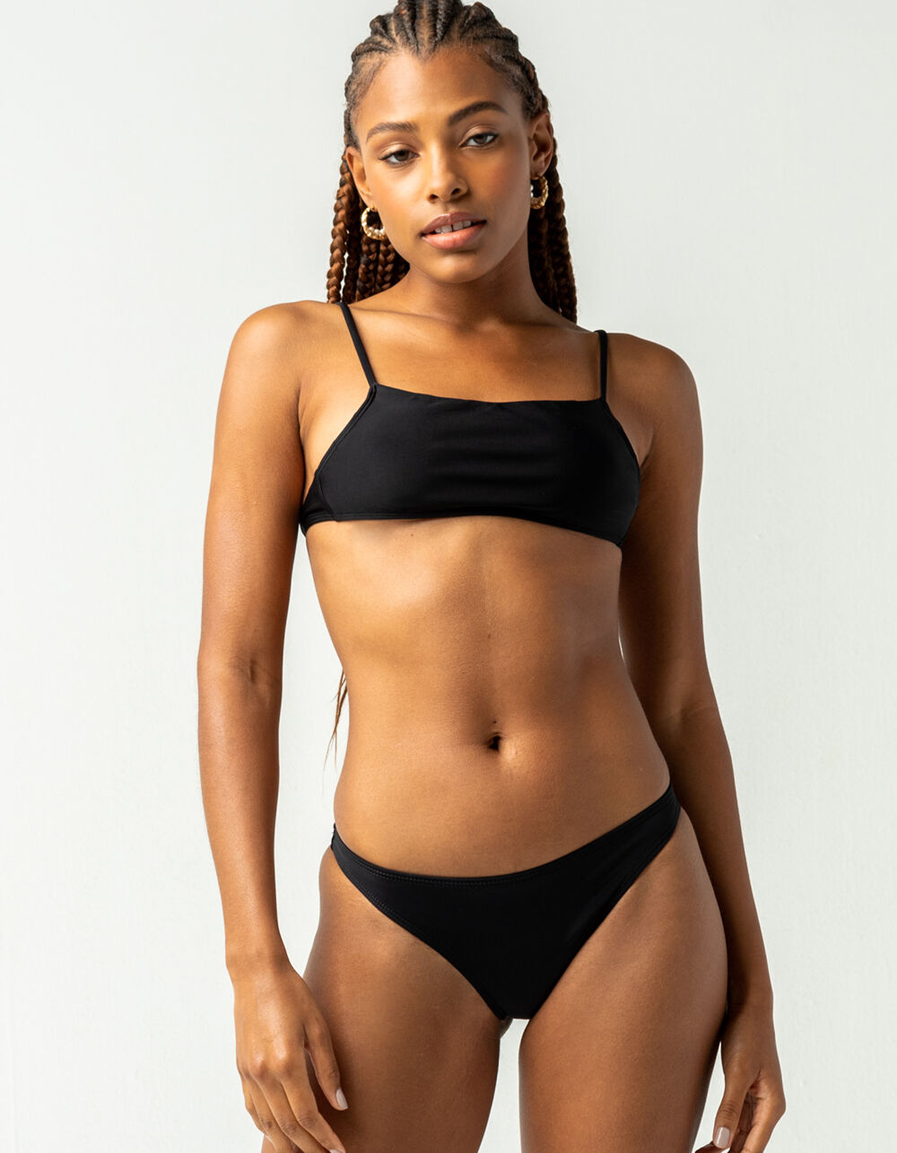FULL TILT Tiny Black Bikini Bottoms