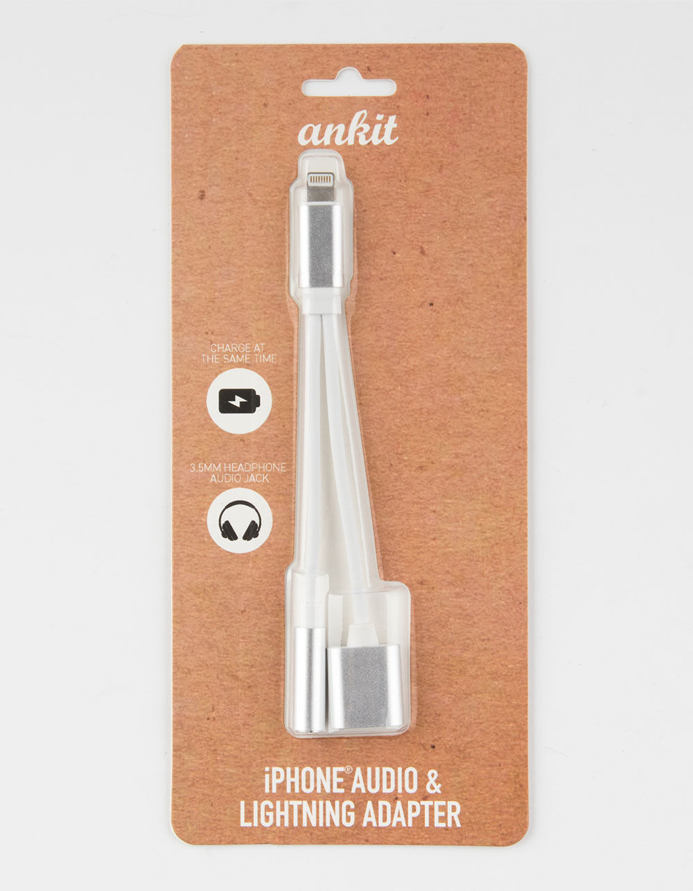 iPhone 7/8 Silver Splitter Cable