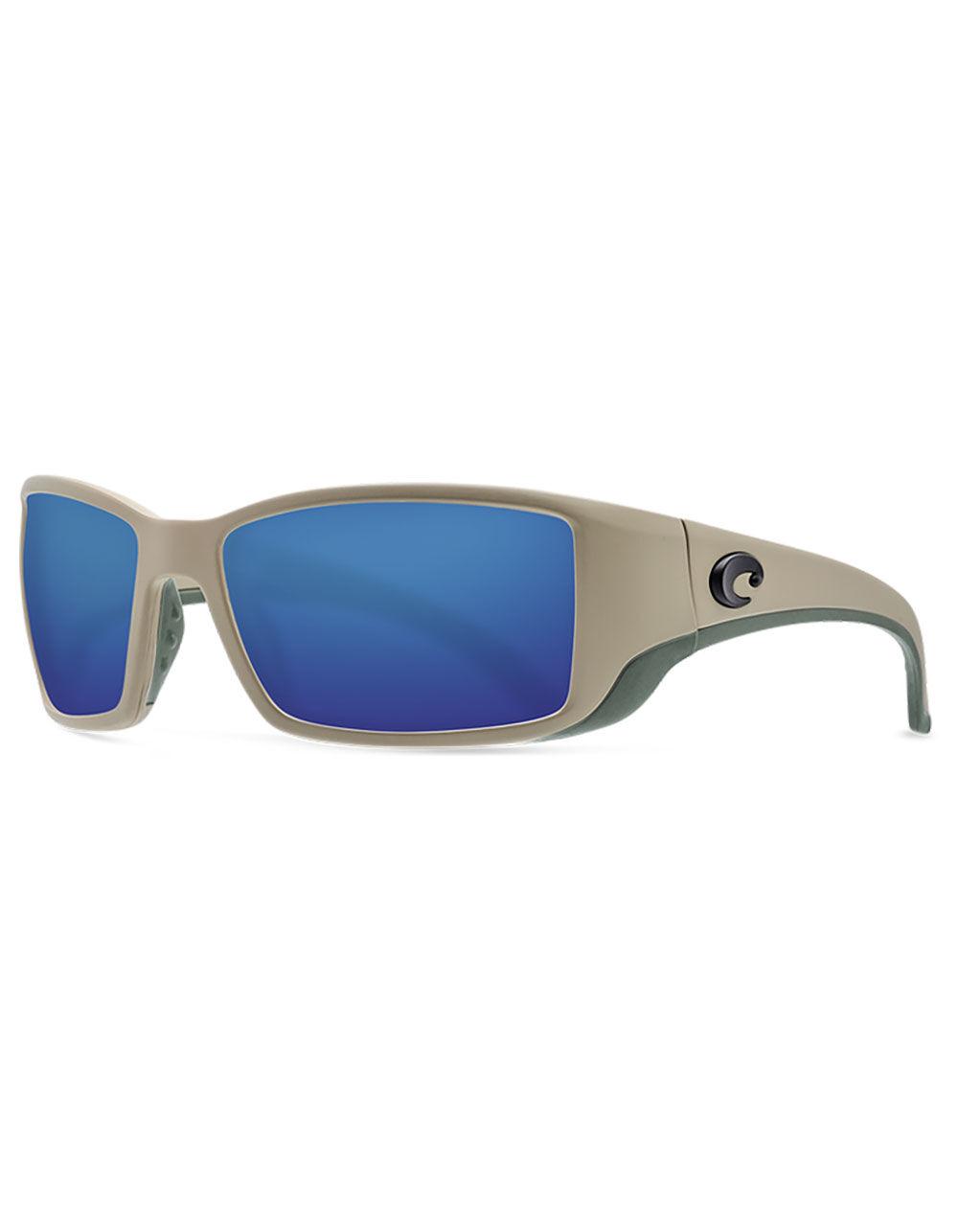 COSTA Blackfin Matte Sand & Blue Mirror Polarized Sunglasses