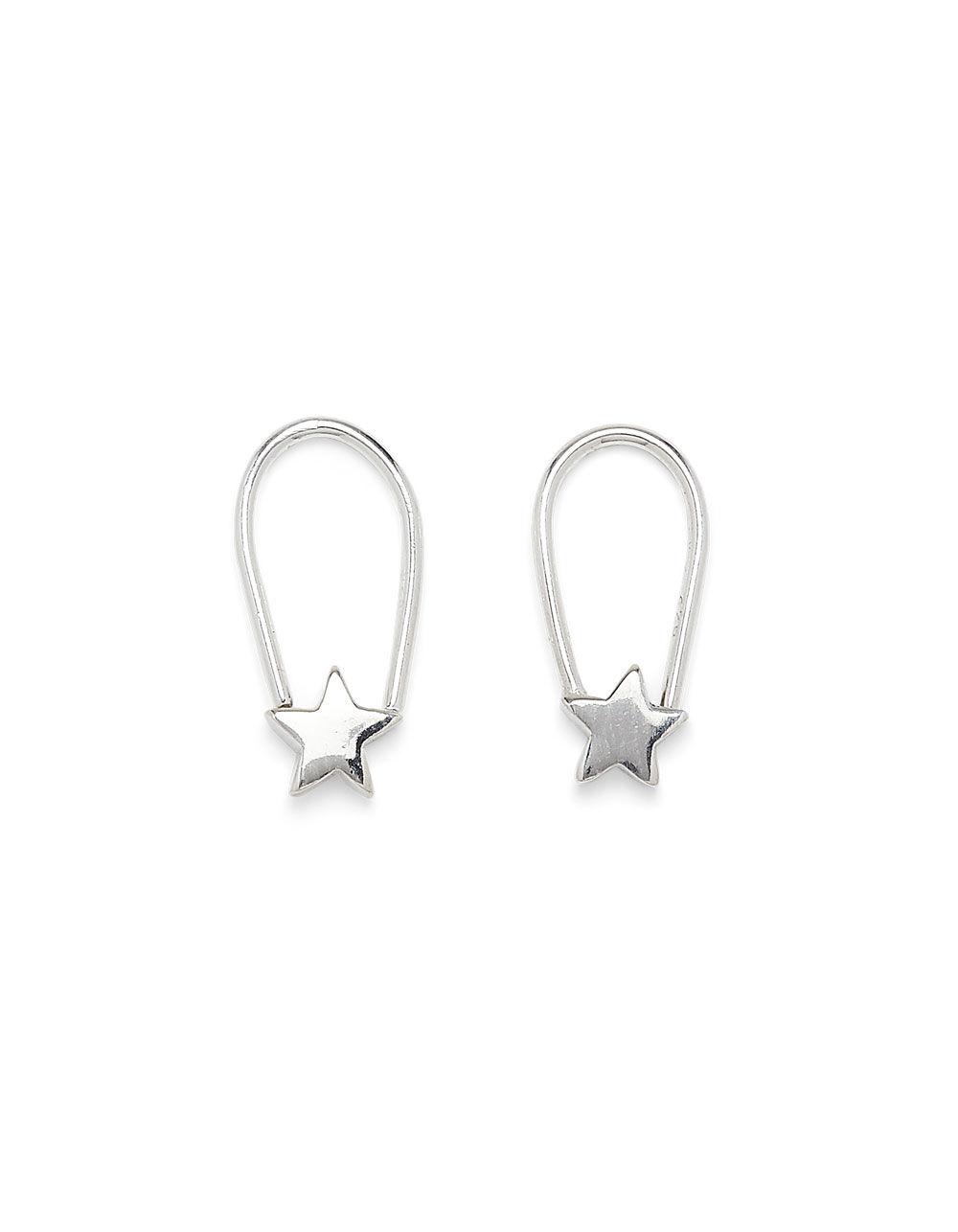 PURA VIDA Star Safety Pin Earrings