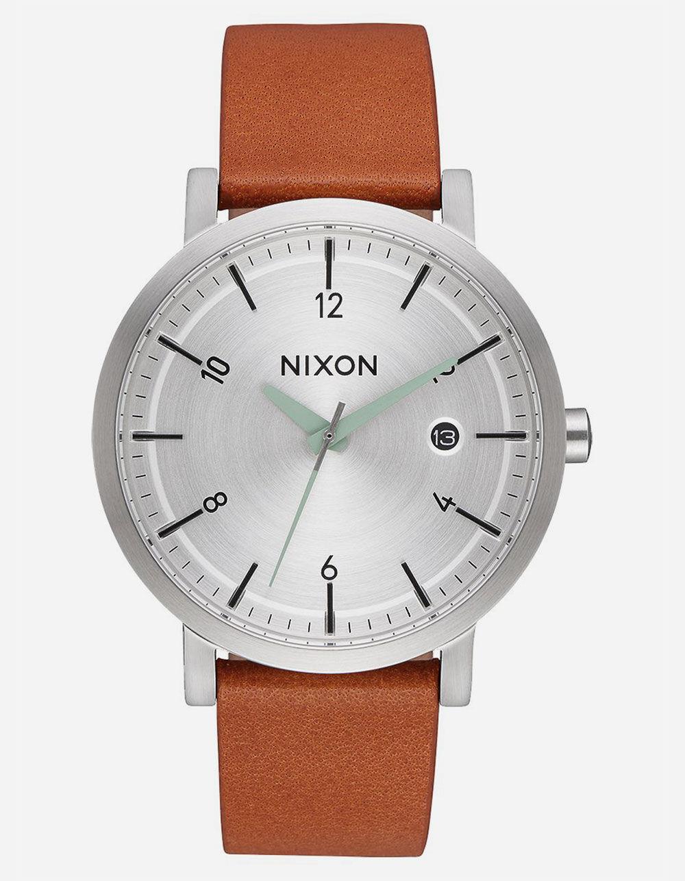 NIXON Daily Driver Rollo 38 Silver & Tan Watch