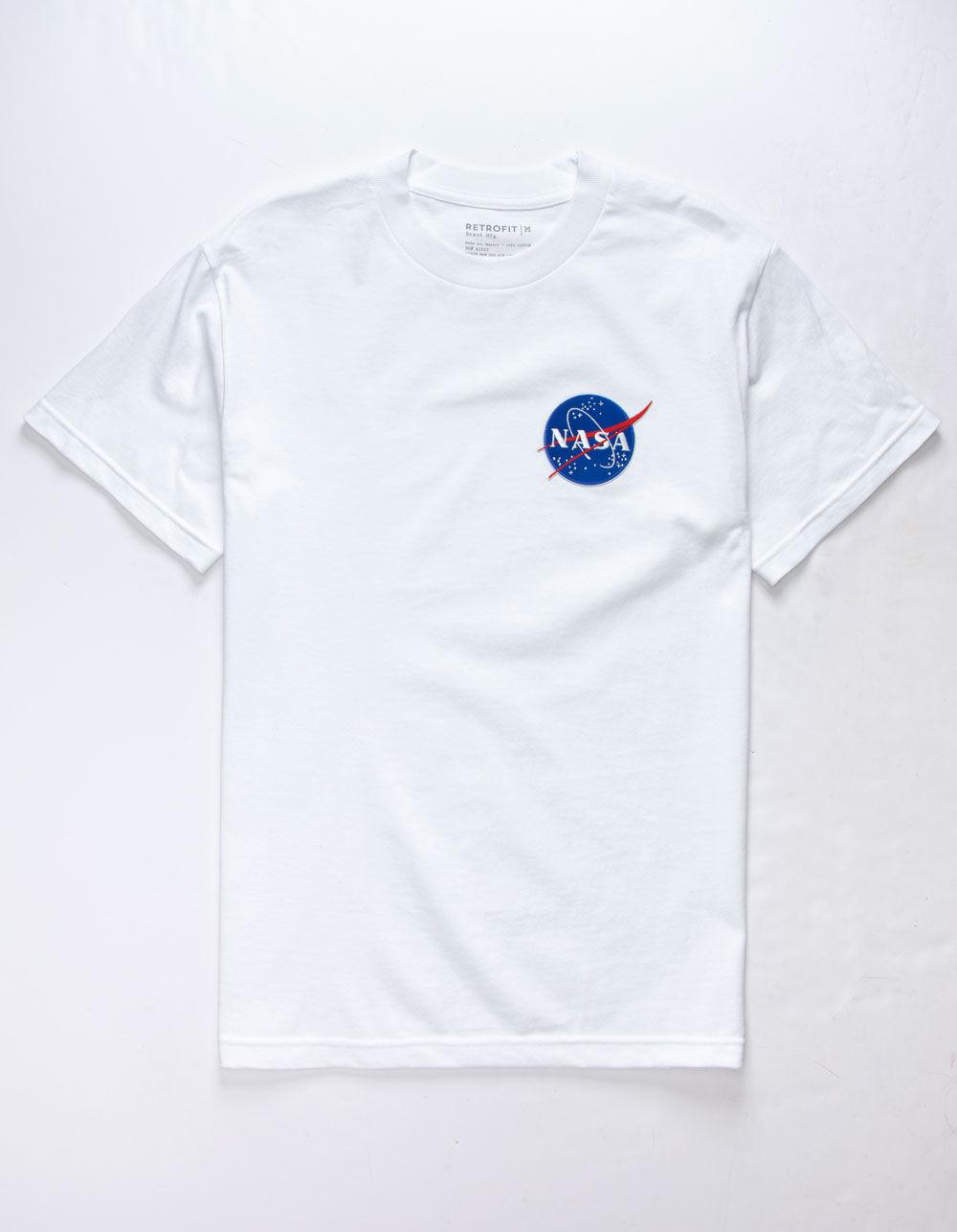 RETROFIT NASA Patch White T-Shirt