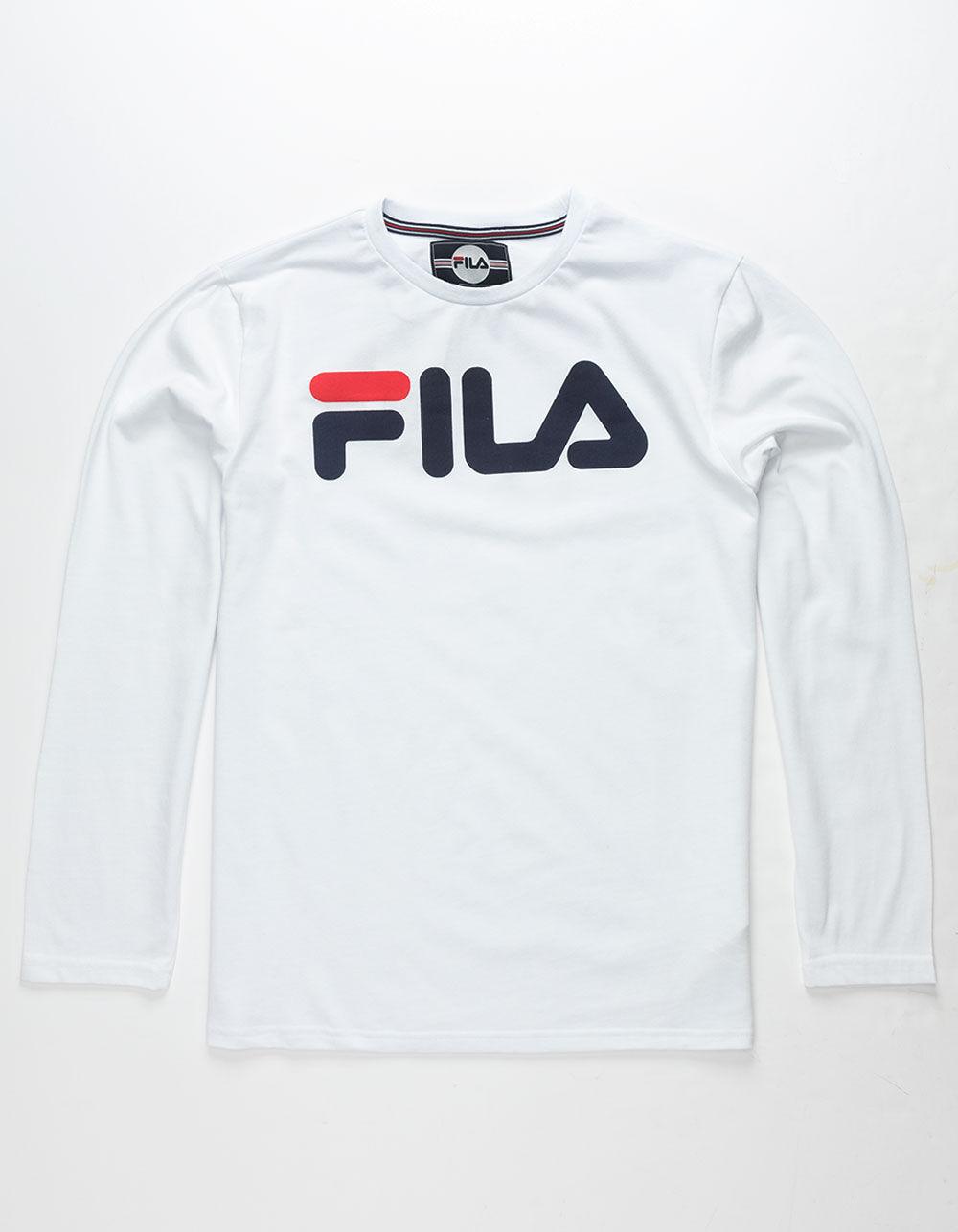 FILA Classic Logo White Boys T-Shirt