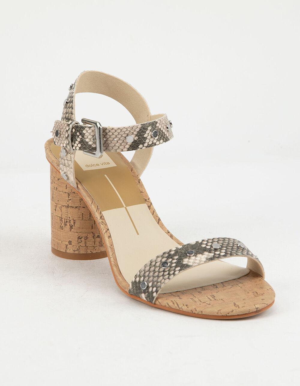 DOLCE Vita Jadyn Snake Print Stella Heeled Sandals