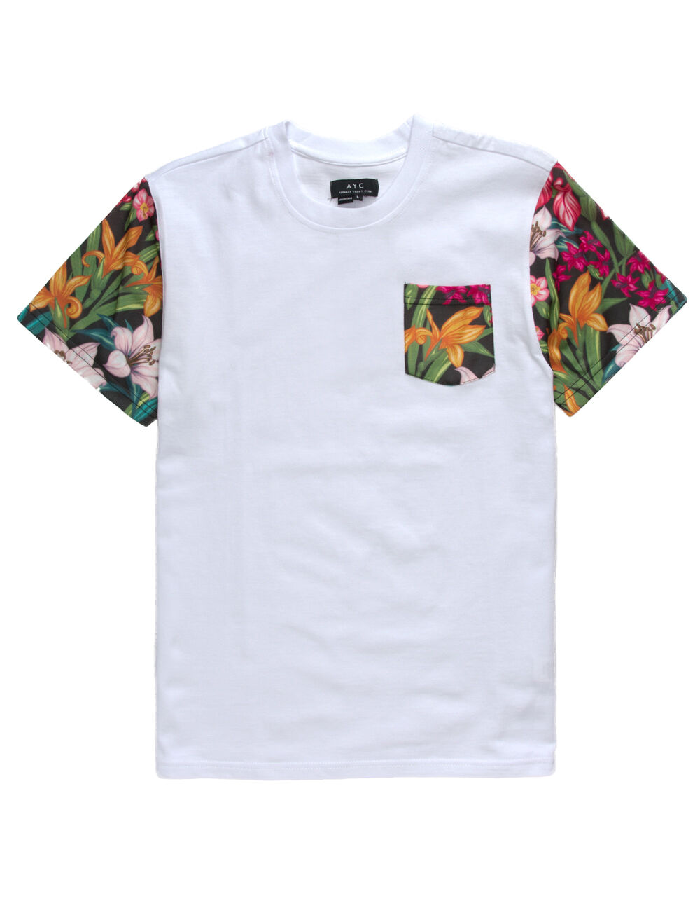 Image of ASPHALT FLOWER BLITZ BOYS POCKET TEE