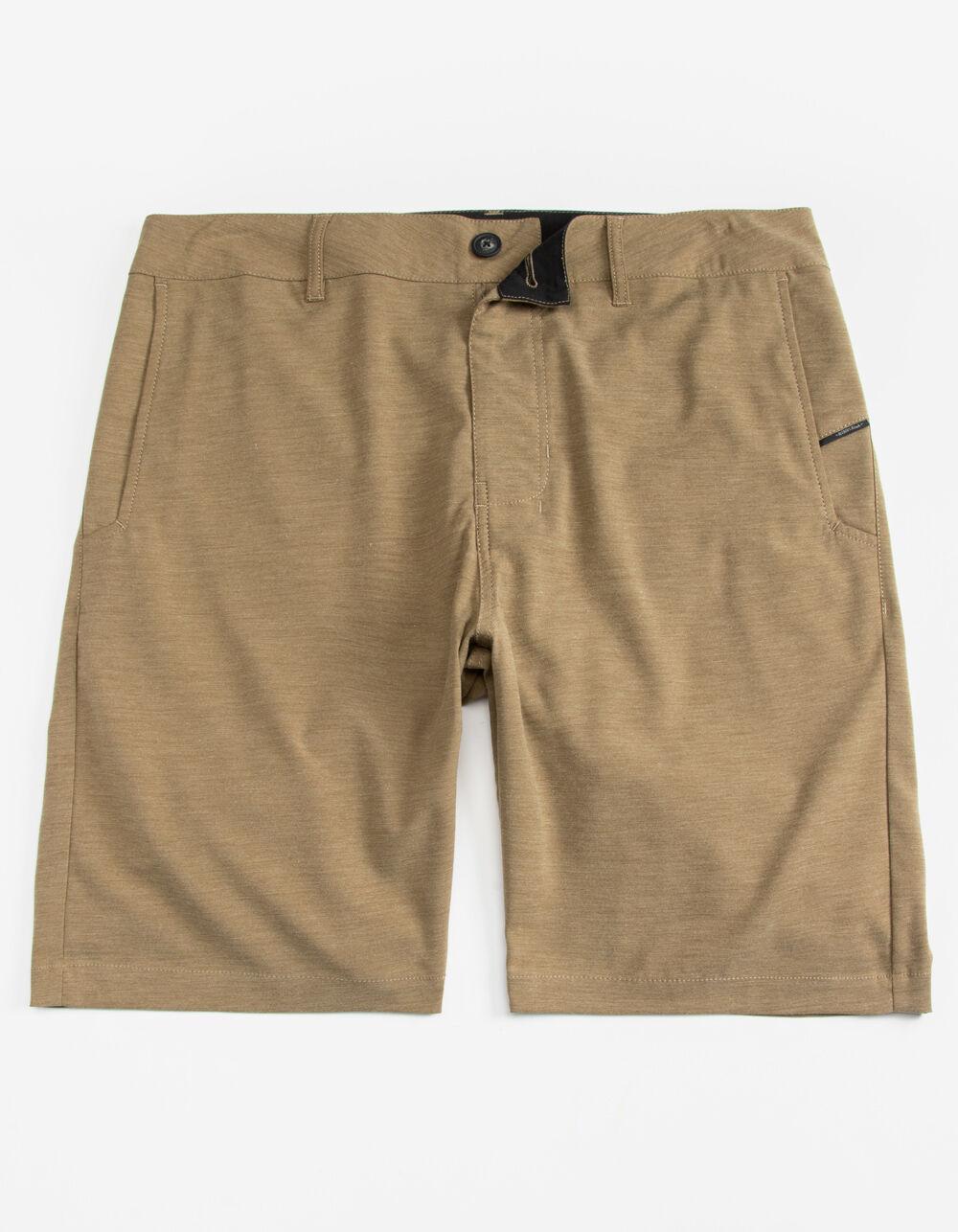 NITROUS BLACK Bronson Dark Khaki Hybrid Shorts