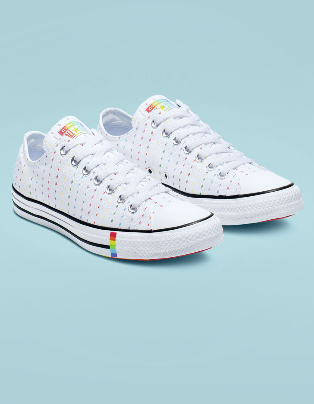 Image of CONVERSE CHUCK TAYLOR ALL STAR PRIDE WHITE LOW TOP SHOES