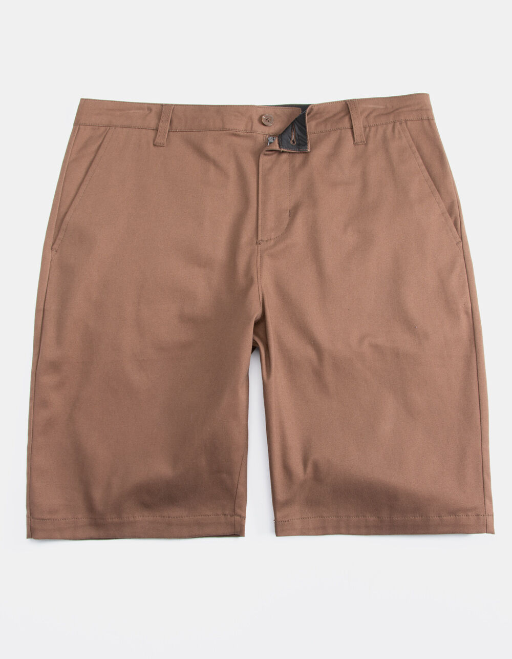 BLUE CROWN Classic Brown Chino Shorts