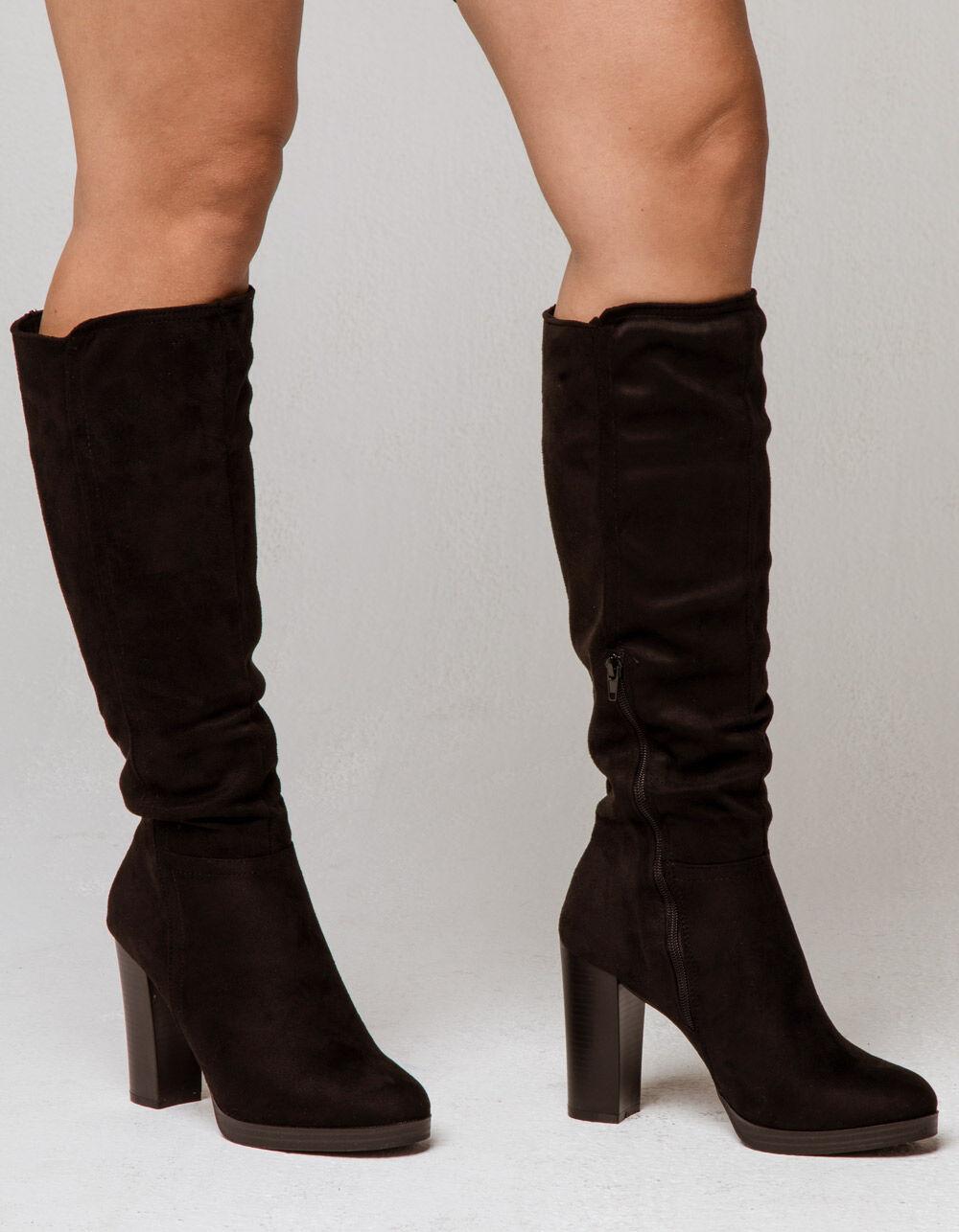 WILD DIVA Knee High Heeled Boots