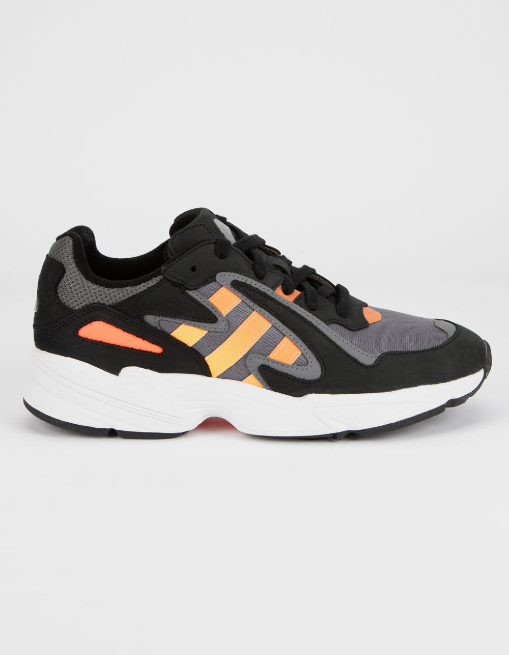 ADIDAS Yung-96 Chasm Core Black & Sol Red Shoes