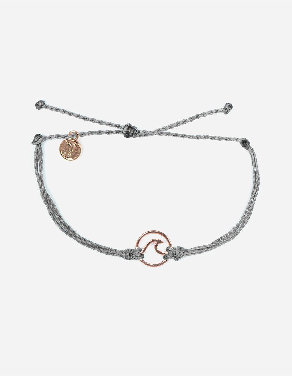 PURA VIDA Wave Gray & Rose Gold Bracelet
