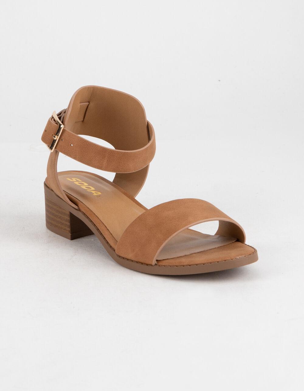 SODA Tan Girls Heeled Sandals