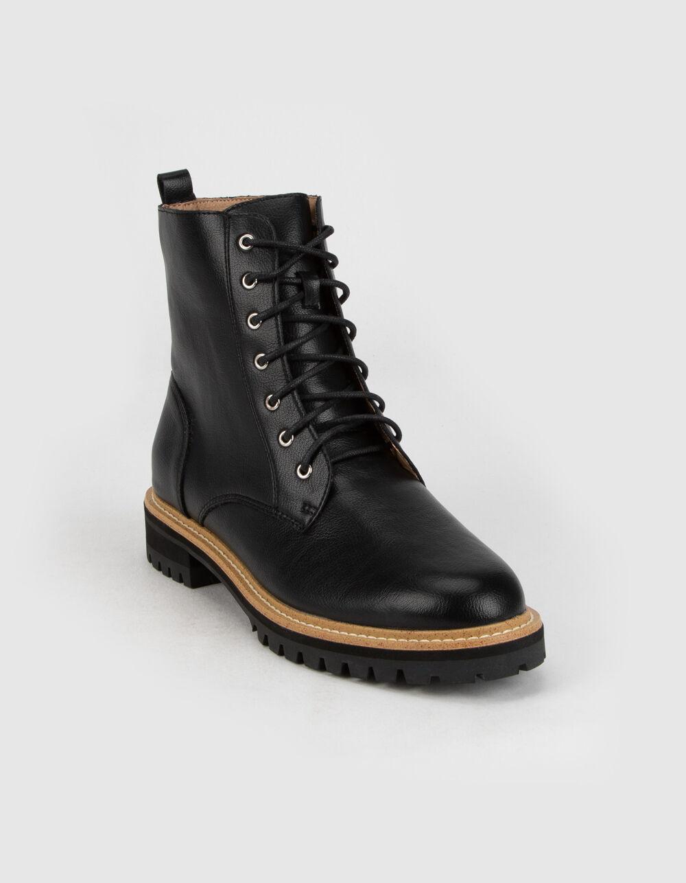 MI.IM Drew Black Combat Boots