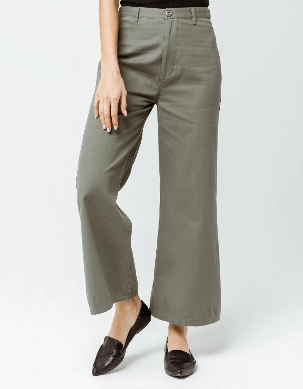 AMUSE SOCIETY Dominga Moss Wide Leg Pants