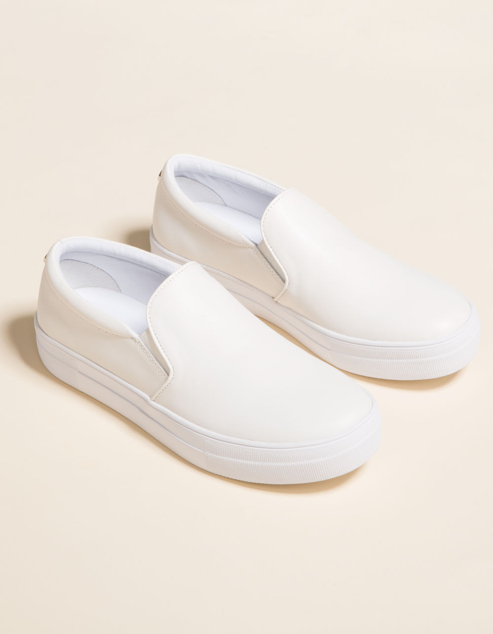 STEVE MADDEN Gills White Leather Shoes