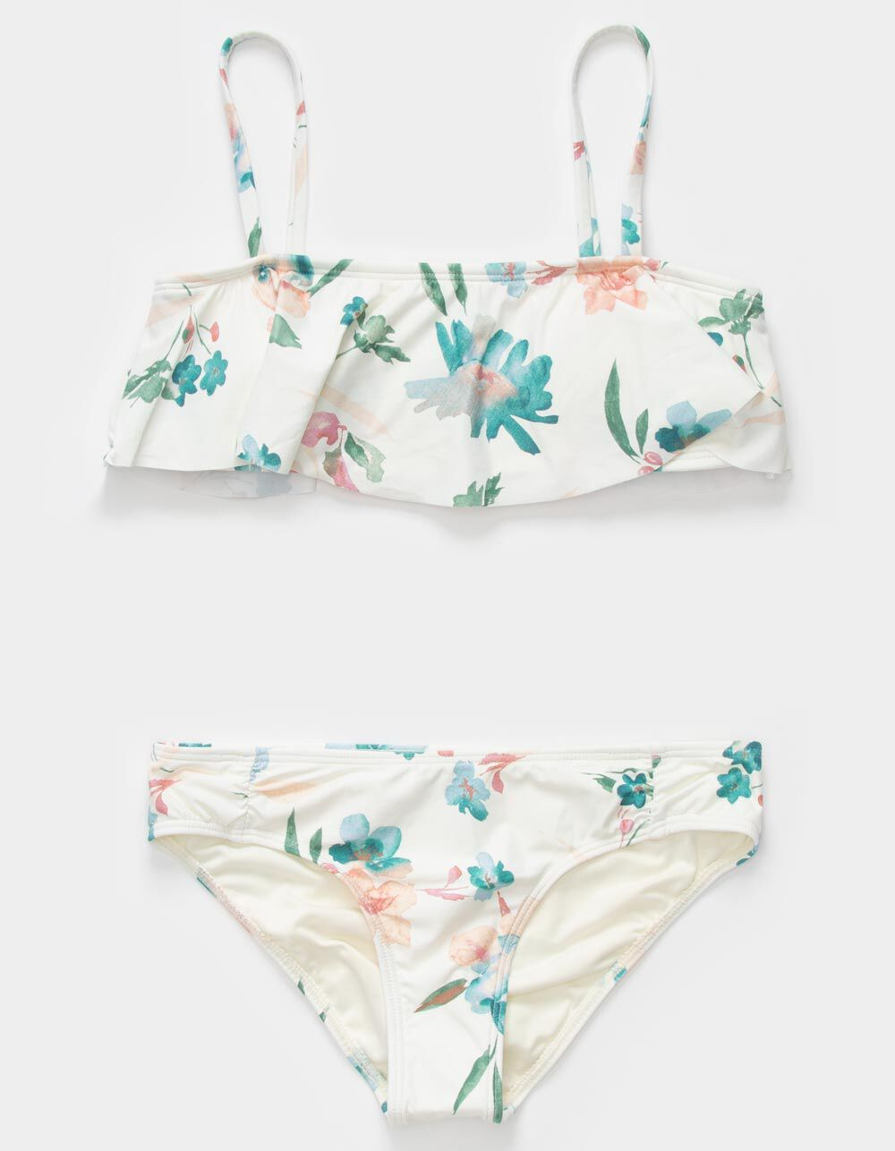 O'NEILL Seabright Ruffle Girls White Bandeau Bikini Set