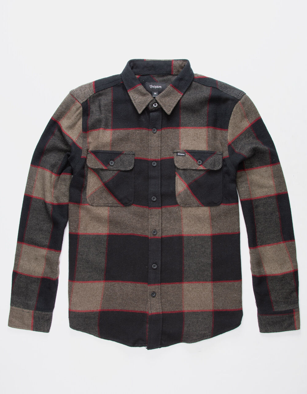 BRIXTON Bowery Charcoal Flannel Shirt