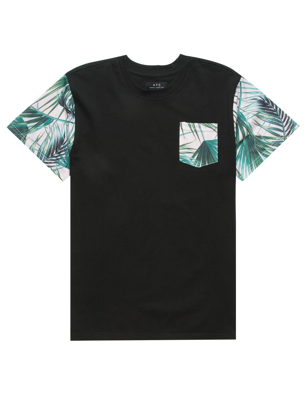 Image of ASPHALT PALMS BOYS POCKET TEE