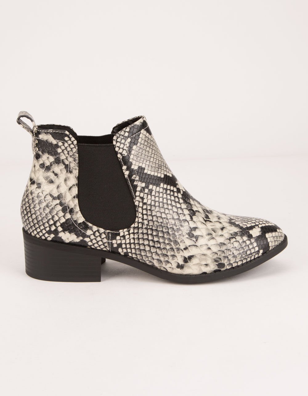 CITY CLASSIFIED Chelsea Python Booties