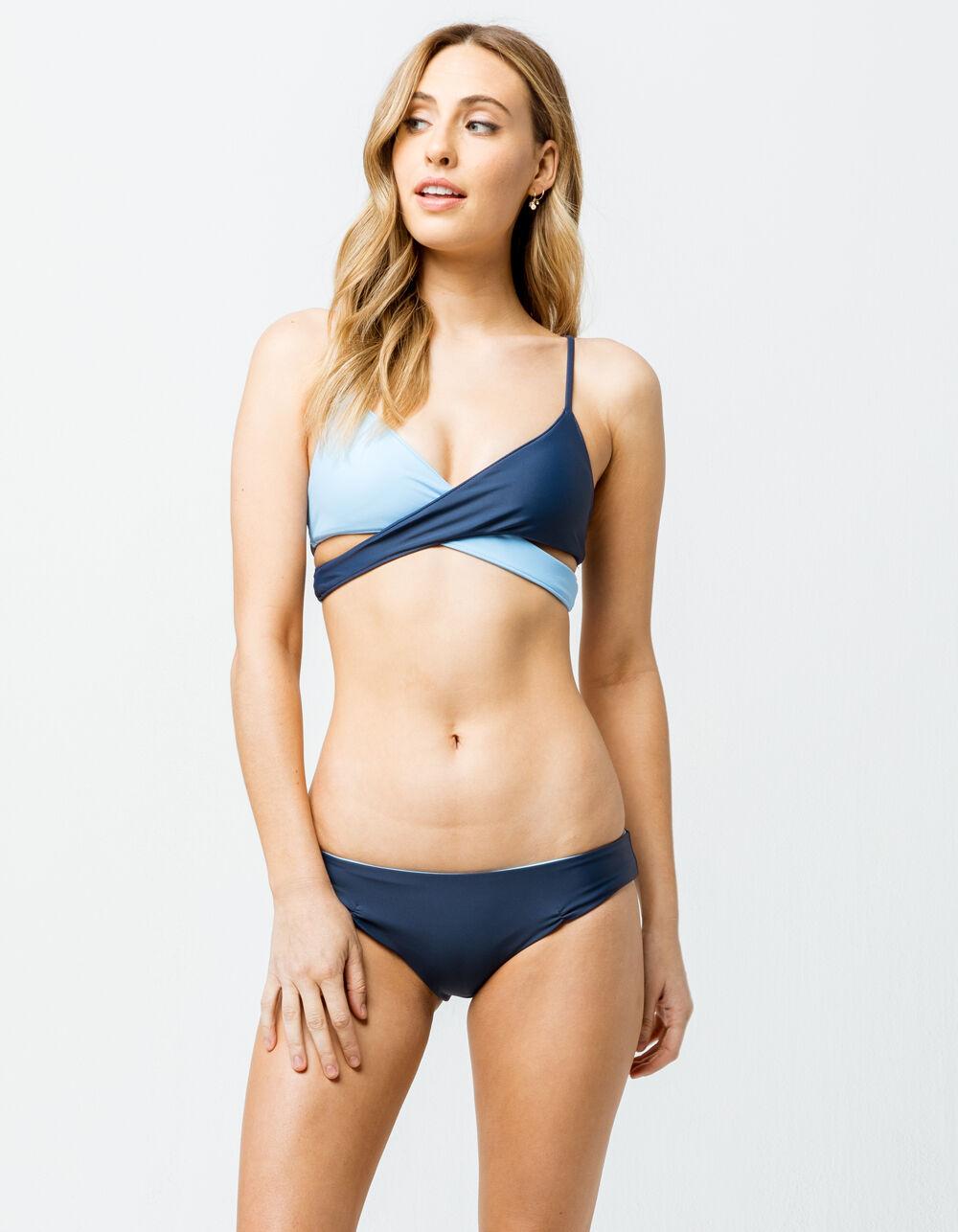 FULL TILT Reversible Blue Hipster Bikini Bottoms