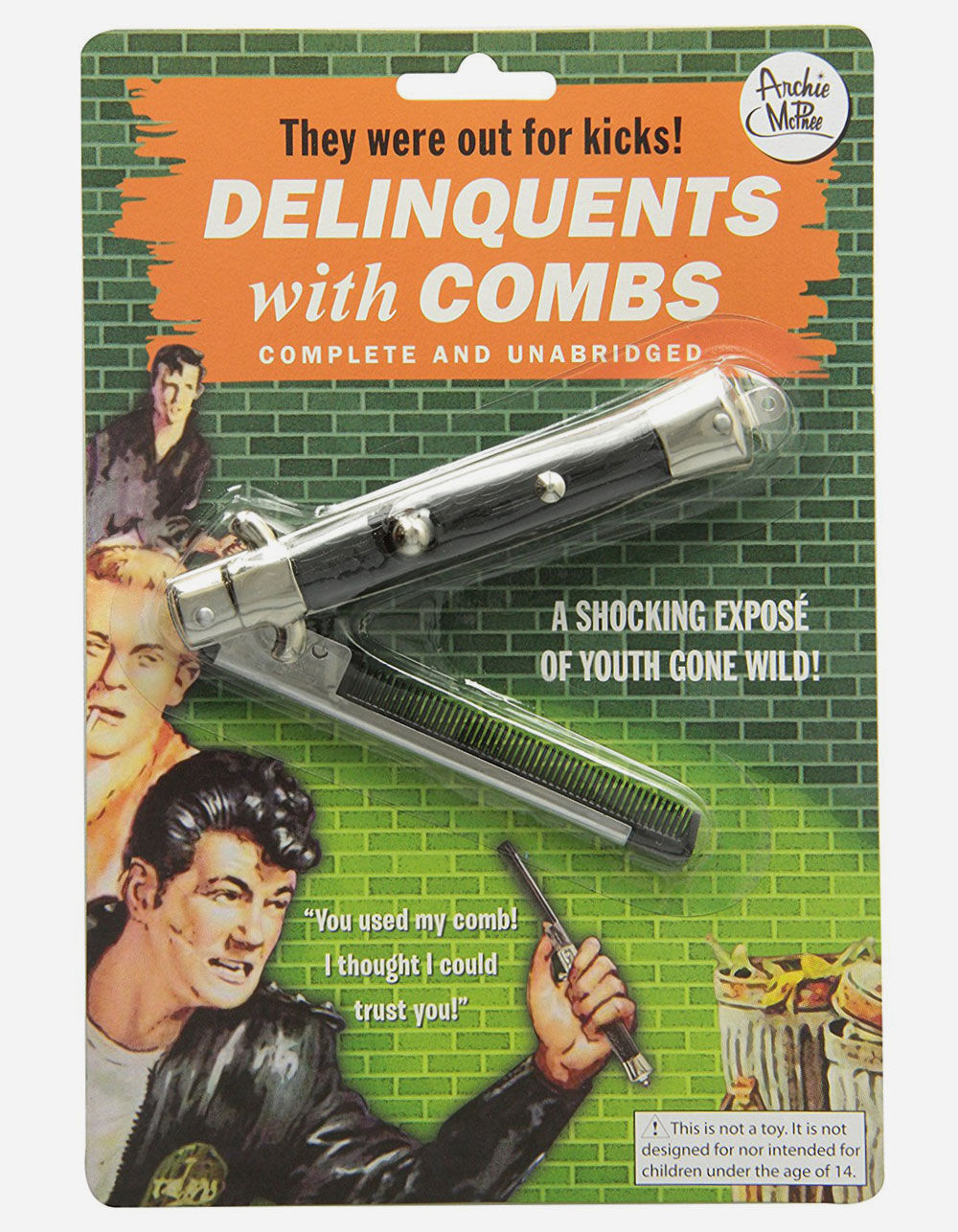 Image of DELINQUENTS WITH COMBS FLIP COMB