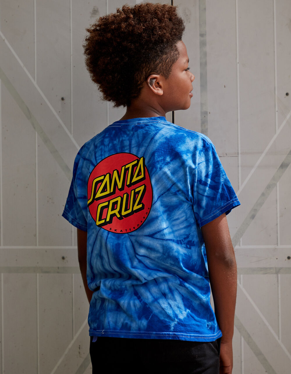 SANTA CRUZ Classic Dot Blue Boys T-Shirt