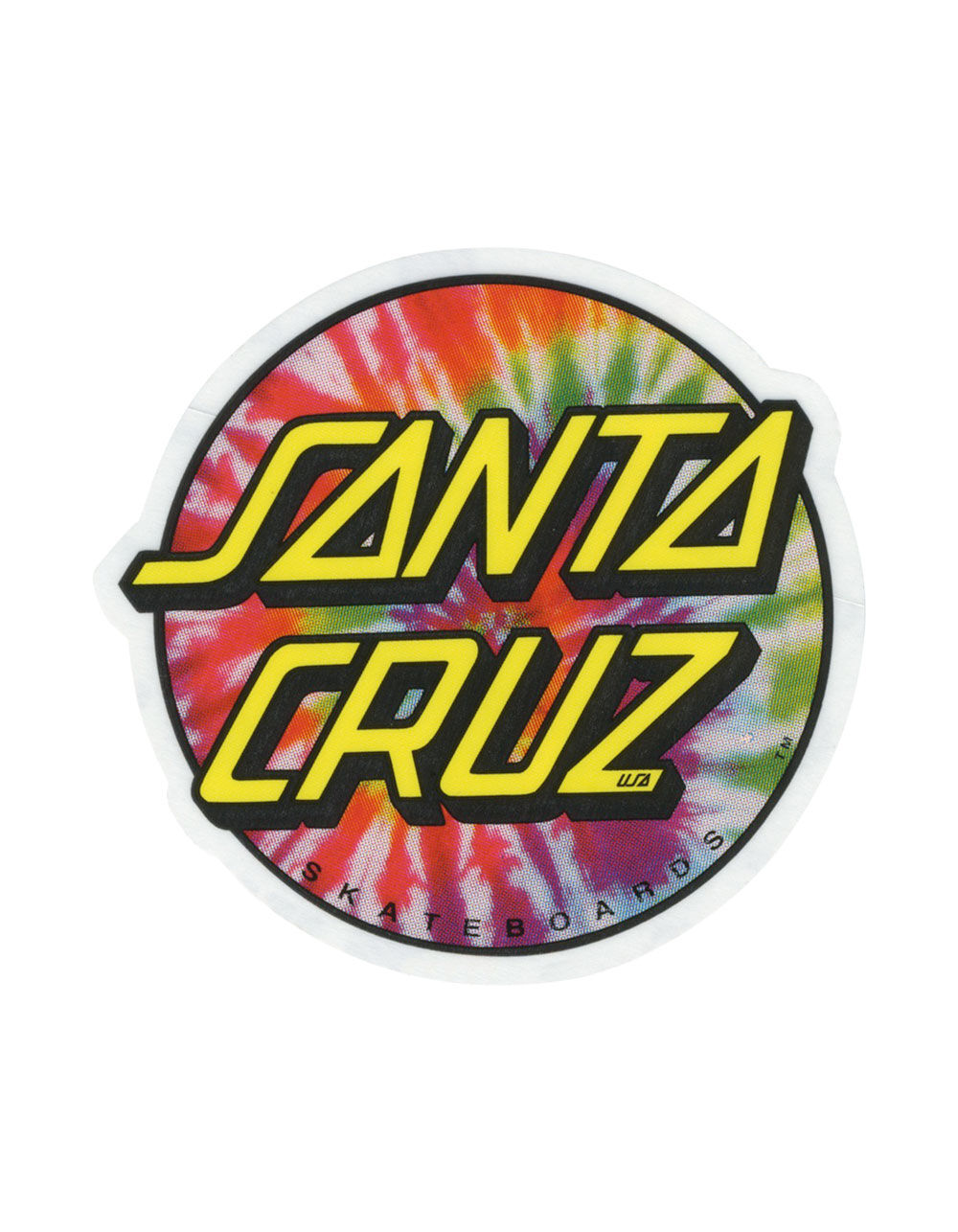 SANTA CRUZ Tie Dye Sticker