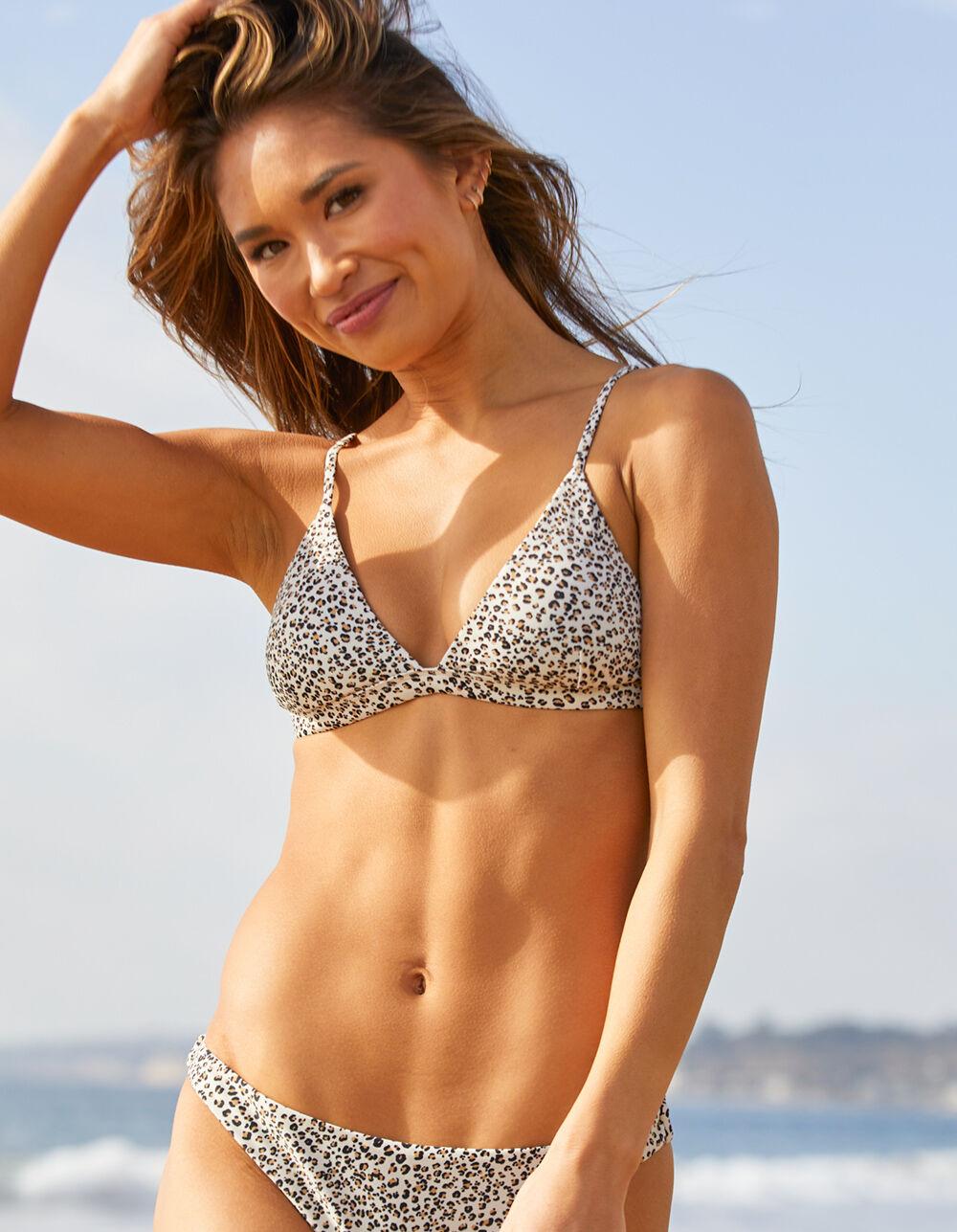 FULL TILT Leopard Fixed Triangle Bikini Top