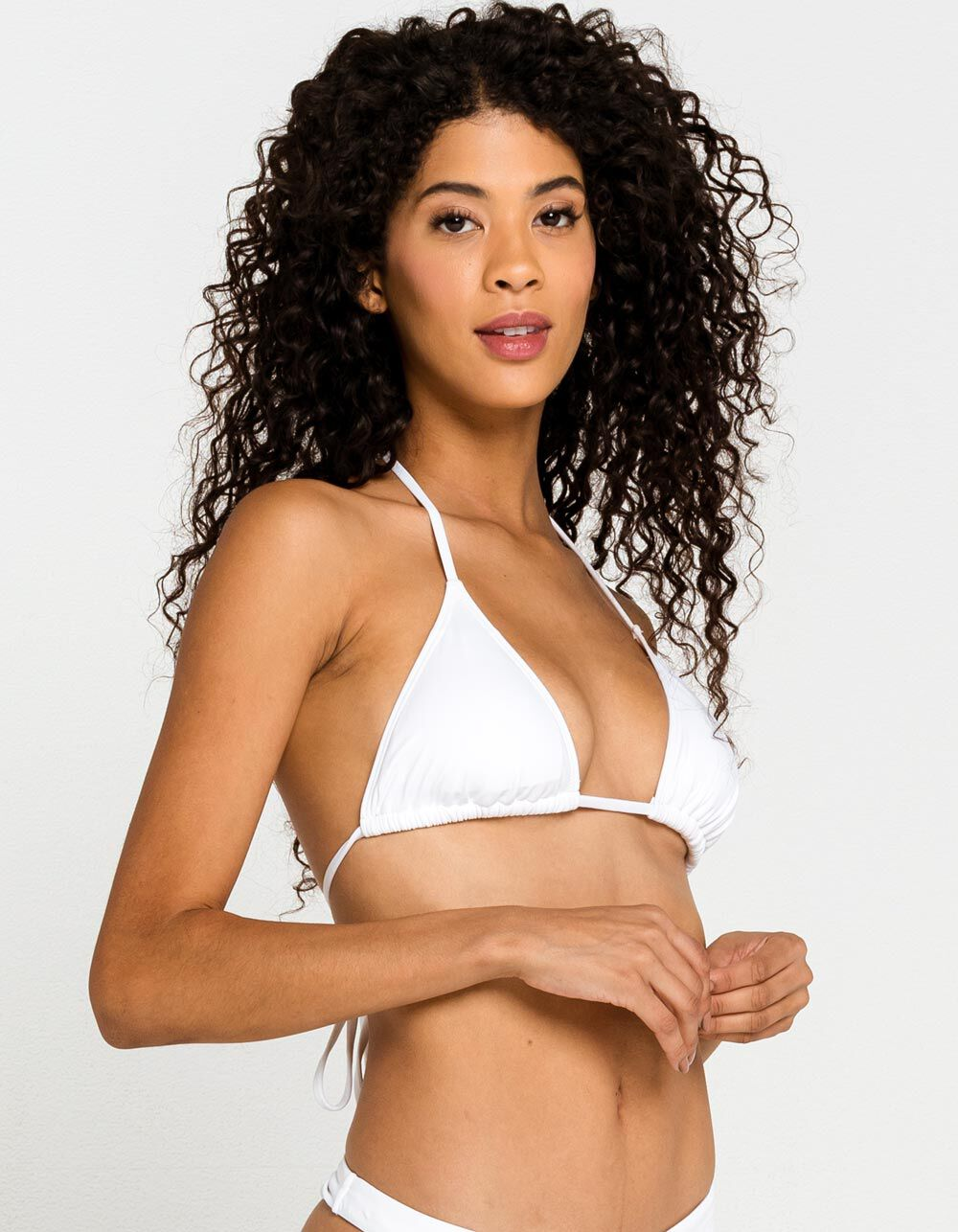 FULL TILT White Triangle Bikini Top