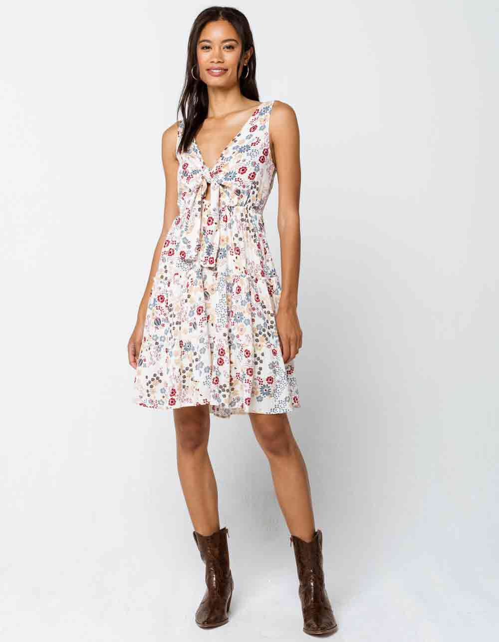 Image of ILLA ILLA Floral Tiered Babydoll Dress