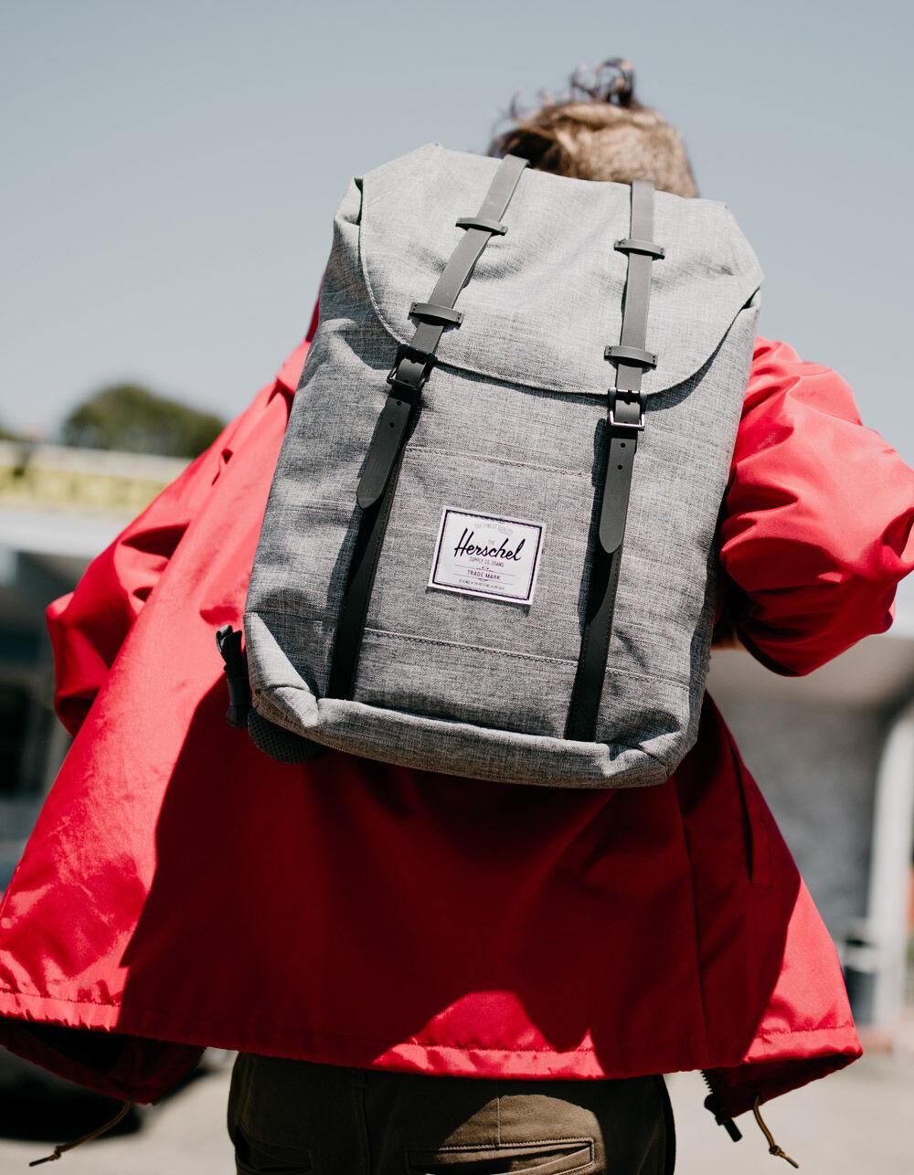 HERSCHEL SUPPLY CO. Retreat Raven Crosshatch & Black Backpack
