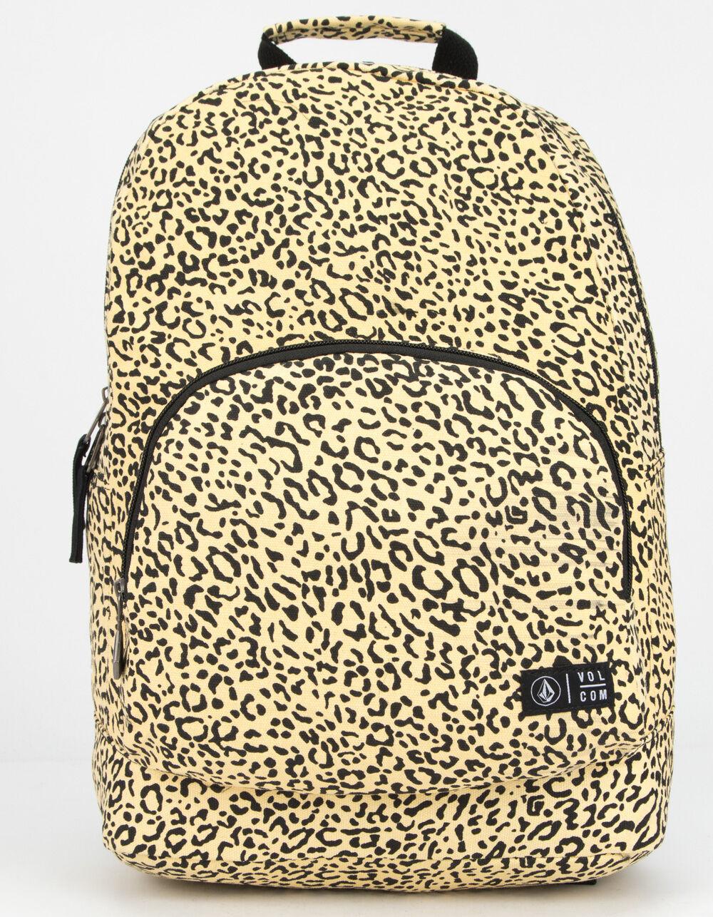 VOLCOM Schoolyard Canvas Leopard Backpack