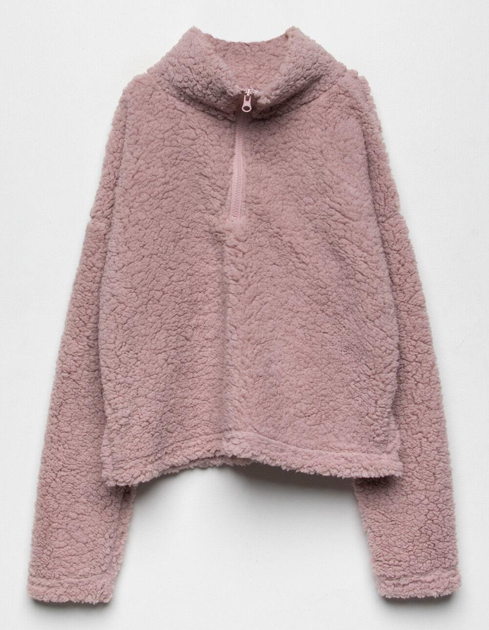 Image of LOVE + JOY Sherpa Girls Half Zip Jacket