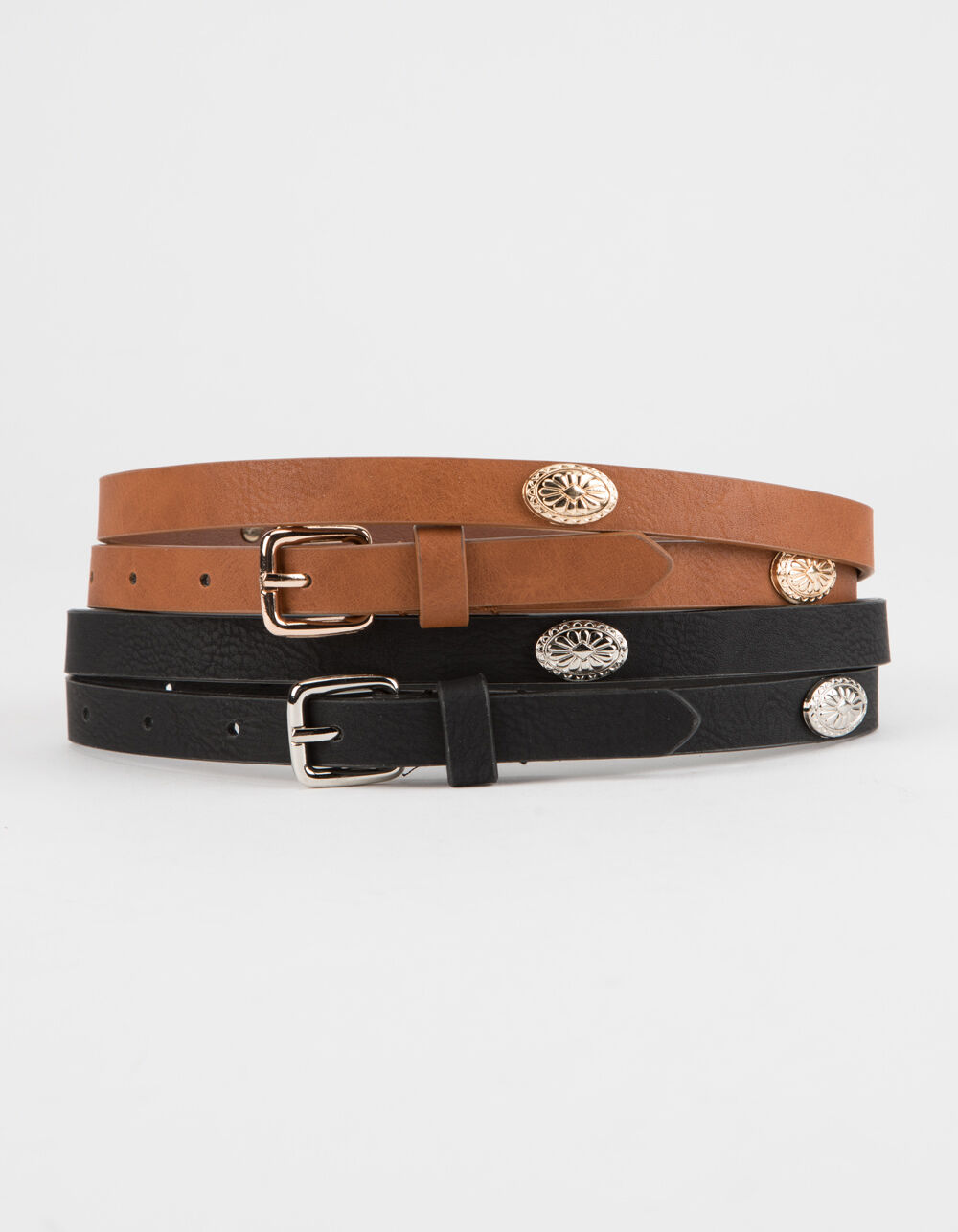 Image of 2 PACK SKINNY WESTERN BELTS