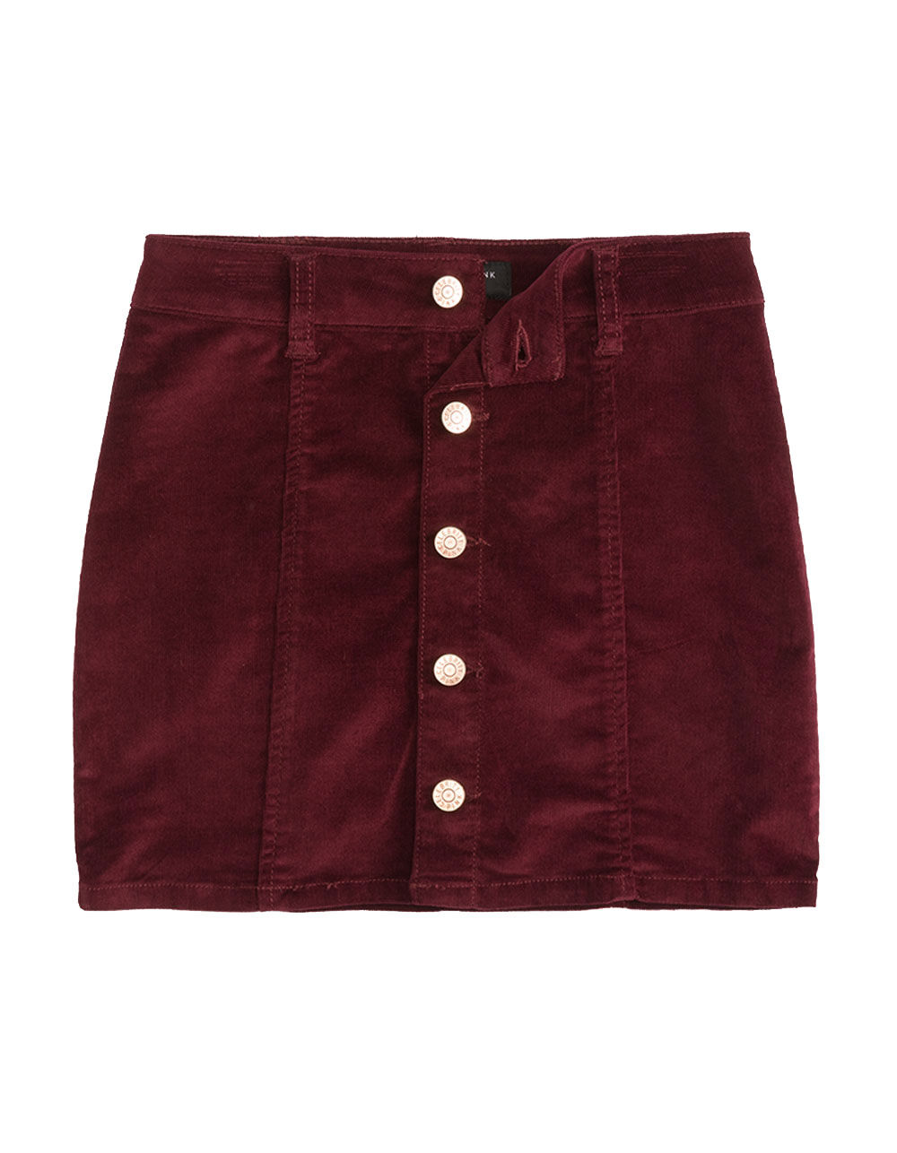Image of CELEBRITY PINK BUTTON FRONT CORDUROY GIRLS SKIRT