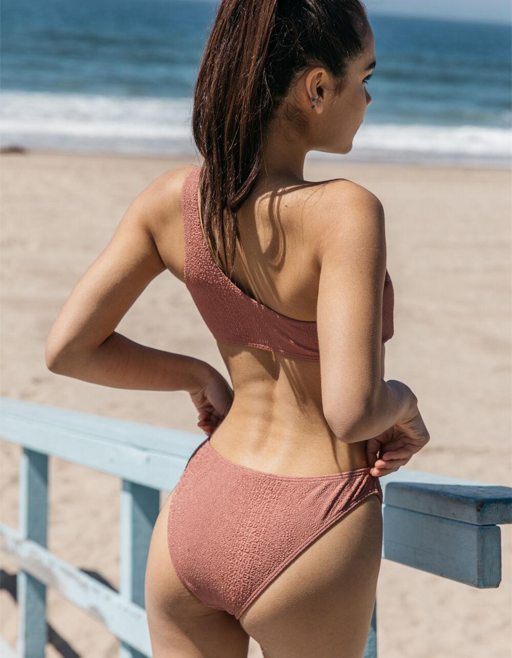 DAMSEL Croc Textured Cheeky Bikini Bottoms
