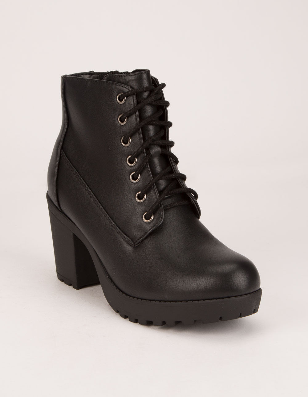 SODA Lug Sole Lace Up Booties